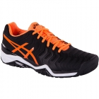 Asics Men's Gel Resolution 7 Tennis Shoes (Black/Orange/White) - Asics Tennis Shoes