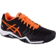Asics Men's Gel Resolution 7 Tennis Shoes (Black/Orange/White) - Lightweight Tennis Shoes