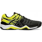 Asics Men's Gel Resolution 7 Clay Tennis Shoes (Black/Sour Yuzu) - Asics Gel-Resolution Tennis Shoes