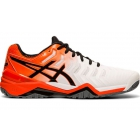 Asics Men's Gel Resolution 7 Tennis Shoes (White/Koi) - Asics Tennis Shoes