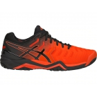 Asics Men's Gel Resolution 7 Tennis Shoes (Cherry Tomato/Black) - Asics Gel-Resolution Tennis Shoes