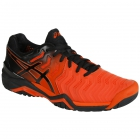 Asics Men's Gel Resolution 7 Tennis Shoes (Cherry Tomato/Black) - Types of Tennis Shoes