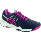 Asics Women's Gel Resolution 7 Tennis Shoes (Indigo Blue/Pink/Green) - Asics Tennis Shoes