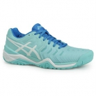 Asics Women's Gel Resolution 7 Tennis Shoes (Aqua/White/Diva Blue) - Types of Tennis Shoes