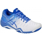 Asics Women's Gel Resolution 7 Tennis Shoes (White/Blue Coast) - Types of Tennis Shoes
