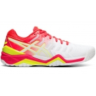 Asics Women's Gel Resolution 7 Tennis Shoes (White/Laser Pink) - Asics Tennis Shoes