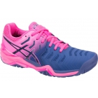 Asics Women's Gel Resolution 7 Tennis Shoes (Blue/Pink) - Asics Gel-Resolution Tennis Shoes