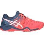 Asics Women's Gel Resolution 7 Tennis Shoes (Papaya/White) - Asics Tennis Shoes