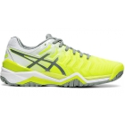 Asics Women's Gel Resolution 7 Tennis Shoes (Safety Yellow/Stone Grey) - Asics Tennis Shoes