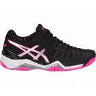 Asics Women's Gel Resolution 7 Tennis Shoes (Black/Silver/Hot Pink) - Asics Gel-Resolution Tennis Shoes