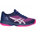 Asics Women's Gel Court Speed Tennis Shoes (Blue/Pink) - Asics