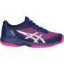 Asics Women's Gel Court Speed Tennis Shoes (Blue/Pink)