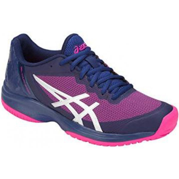 Asics Men's Gel Court Speed Tennis Shoes (Blue/Pink)