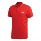 Adidas Men's Club Rib Tennis Polo (Scarlet) - Men's Polo Shirts
