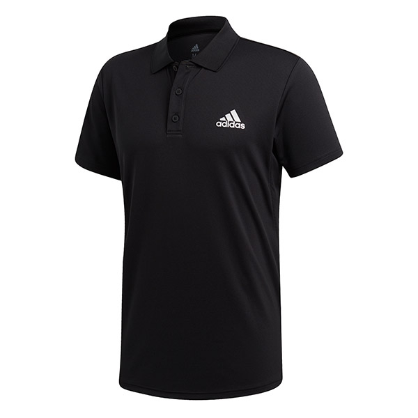 Adidas Men's Club Rib Tennis Polo (Black)