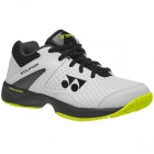 Yonex Junior Power Cushion Eclipsion 2 Tennis Shoes (White/Lime) - Yonex Junior Tennis Equipment