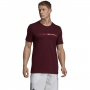 Adidas Men's MatchCode Cotton Graphic Tennis Tee (Maroon)