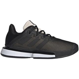 Adidas Women's SoleMatch Bounce Tennis Shoes (Core Black/Linen)