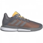 Adidas Men's SoleMatch Bounce Tennis Shoe (Grey Three/Grey Three/Flash Orange)
