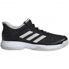 Adidas Junior Adizero Club Tennis Shoes (Core Black/White/Grey) - Adidas Junior Tennis