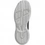 Adidas Junior Adizero Club Tennis Shoes (Core Black/White/Grey)