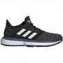 Adidas Junior SoleCourt xJ Tennis Shoes (Core Black/White/Tech Ink)