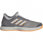 Adidas Men's Adizero Ubersonic 3.0 Tennis Shoes (Grey/Flash Orange) - Adidas adiZero Tennis Shoes
