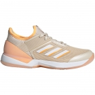 Adidas Women's Adizero Ubersonic 3.0 Tennis Shoes (Linen/White/Flash Orange) - Adidas adiZero Tennis Shoes