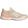 Adidas Women's Adizero Ubersonic 3.0 Tennis Shoes (Linen/White/Flash Orange)