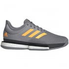 Adidas Men's SoleCourt Boost Tennis Shoes (Grey Three/Flash Orange/Carbon) - 6-Month Warranty Shoes