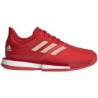 Adidas Women's SoleCourt Boost Tennis Shoes (Active Red/Soft Powder/Scarlet) - 6-Month Warranty Shoes