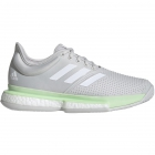 Adidas Women's SoleCourt Boost Tennis Shoes (Glow Green/White/Grey) - 6-Month Warranty Shoes