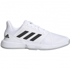 Adidas Men's CourtJam Bounce Tennis Shoes (White/Core Black/Matte Silver) - Performance Tennis Shoes