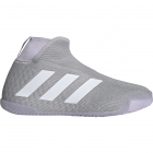 Adidas Women's Stycon Laceless Tennis Shoes (Grey/White/Purple Tint) - 6-Month Warranty Shoes
