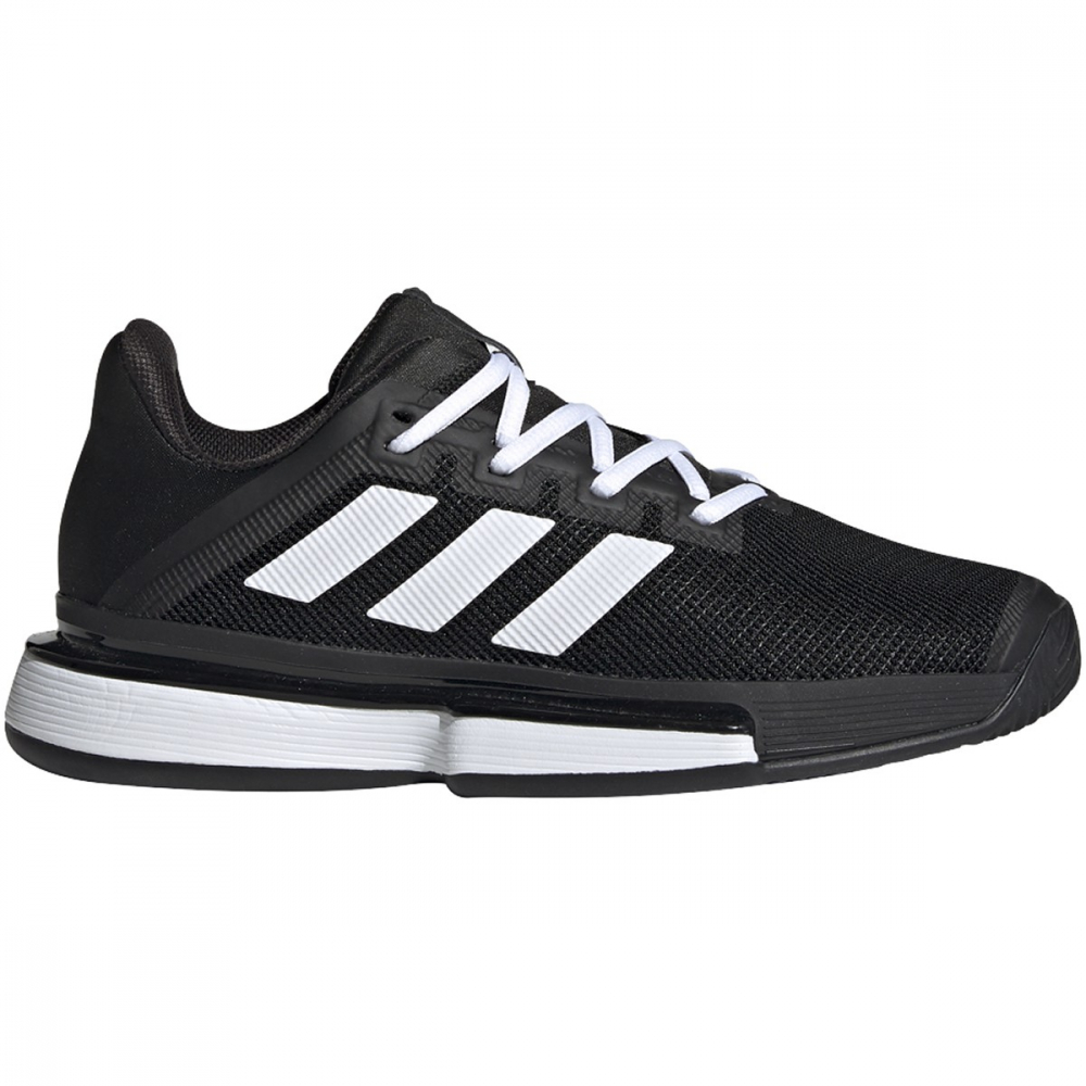 Adidas Women's SoleMatch Bounce Tennis Shoes (Core Black/White)