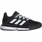 Adidas Women's SoleMatch Bounce Tennis Shoes (Core Black/White) -