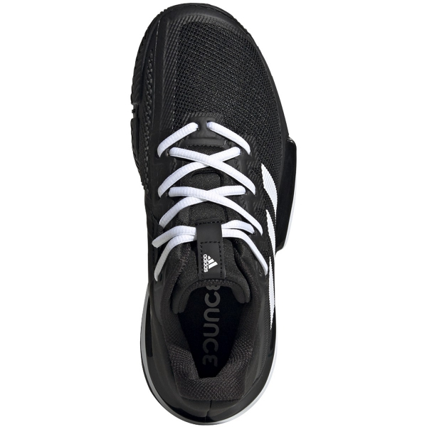 Adidas Women's SoleMatch Bounce Tennis Shoes (Core Black/White)