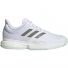 Adidas Men's SoleCourt Tennis Shoes (White/Legacy Green/Green Tint) - 6-Month Warranty Shoes