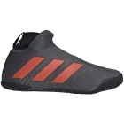 Adidas Men's Stycon Laceless Clay Tennis Shoes (Core Black/Grey Six/True Orange)  -