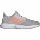Adidas Men's GameCourt Tennis Shoes (Grey/Signal Coral) - Adidas GameCourt Tennis Shoes