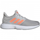Adidas Women's GameCourt Tennis Shoes (Grey/Signal Coral) - Enjoy Free FedEx 2-Day Shipping on Select Women's Shoes