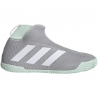 Adidas Men's Stycon Laceless Tennis Shoes (Grey/White/Dash Green) - 6-Month Warranty Shoes