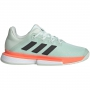 Adidas Men's SoleMatch Bounce Tennis Shoe (Dash Green/Core Black/Signal Coral)