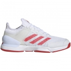 Adidas Men's Adizero Ubersonic 2.0 Tennis Shoes (White/Active Red) - Adidas adiZero Tennis Shoes
