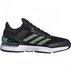Adidas Men's Adizero Ubersonic 2.0 Tennis Shoes (Core Black/Glow Green/Orange) - Adidas adiZero Tennis Shoes