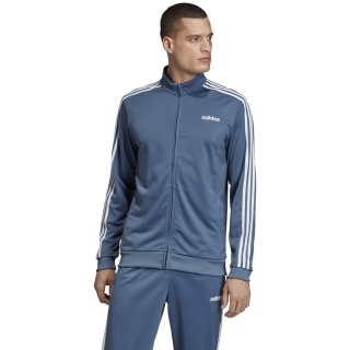 Adidas Men's 3 Stripe Tricot Tennis Jacket (Tech Ink)