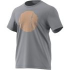 Adidas Men's Flushing Graphic Tennis Tee (Grey Three) - Adidas Men's Tennis Apparel