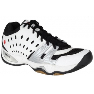 Ektelon Men's T22 Mid Racquetball Shoe (White / Black/ Silver)