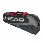 Head Elite 3R Pro Tennis Bag (Black/Red) - 3 Racquet Tennis Bags