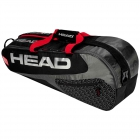 Head Elite 6R Combi Tennis Bag (Black/Red) - 6 Racquet Tennis Bags